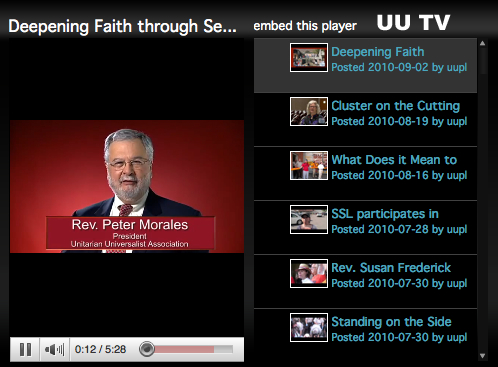 UU TV -- Videos from the UUA