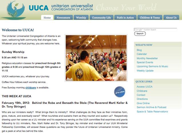 UUCA-org Screenshot